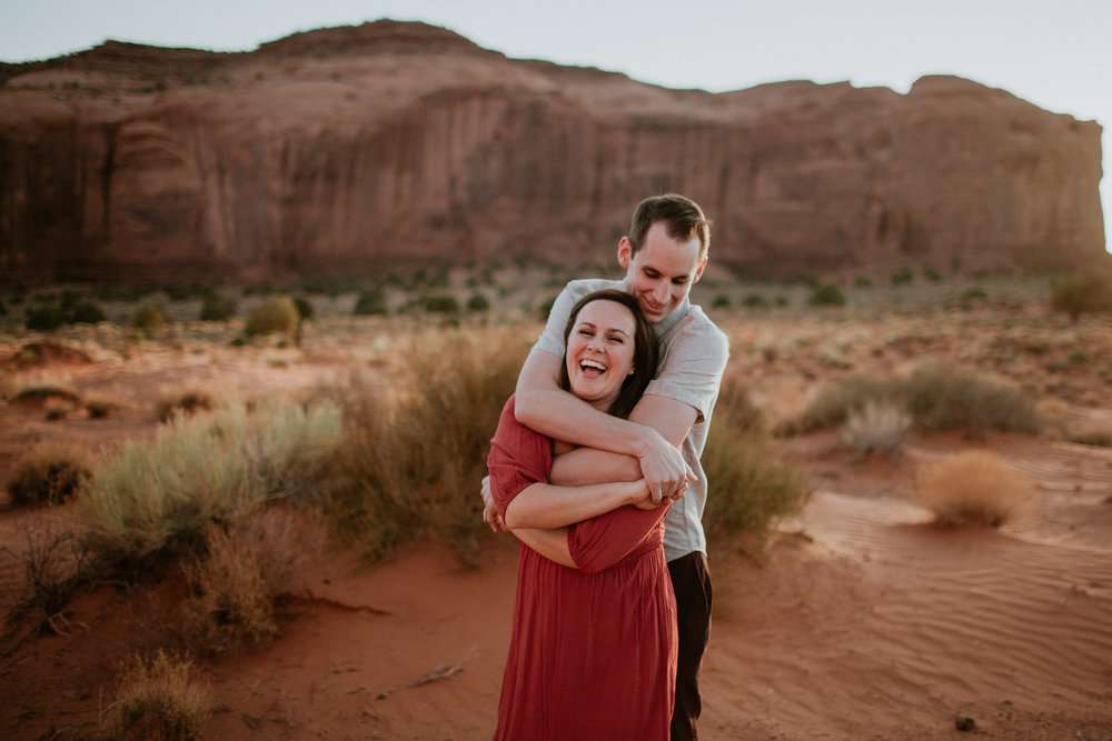 Monument valley engagement photographer
