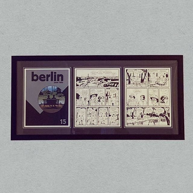 Freshly framed original inked pages from Berlin by Jason Lutes. #originalcomicart #jasonlutesberlin #jasonlutes #graphicnovel