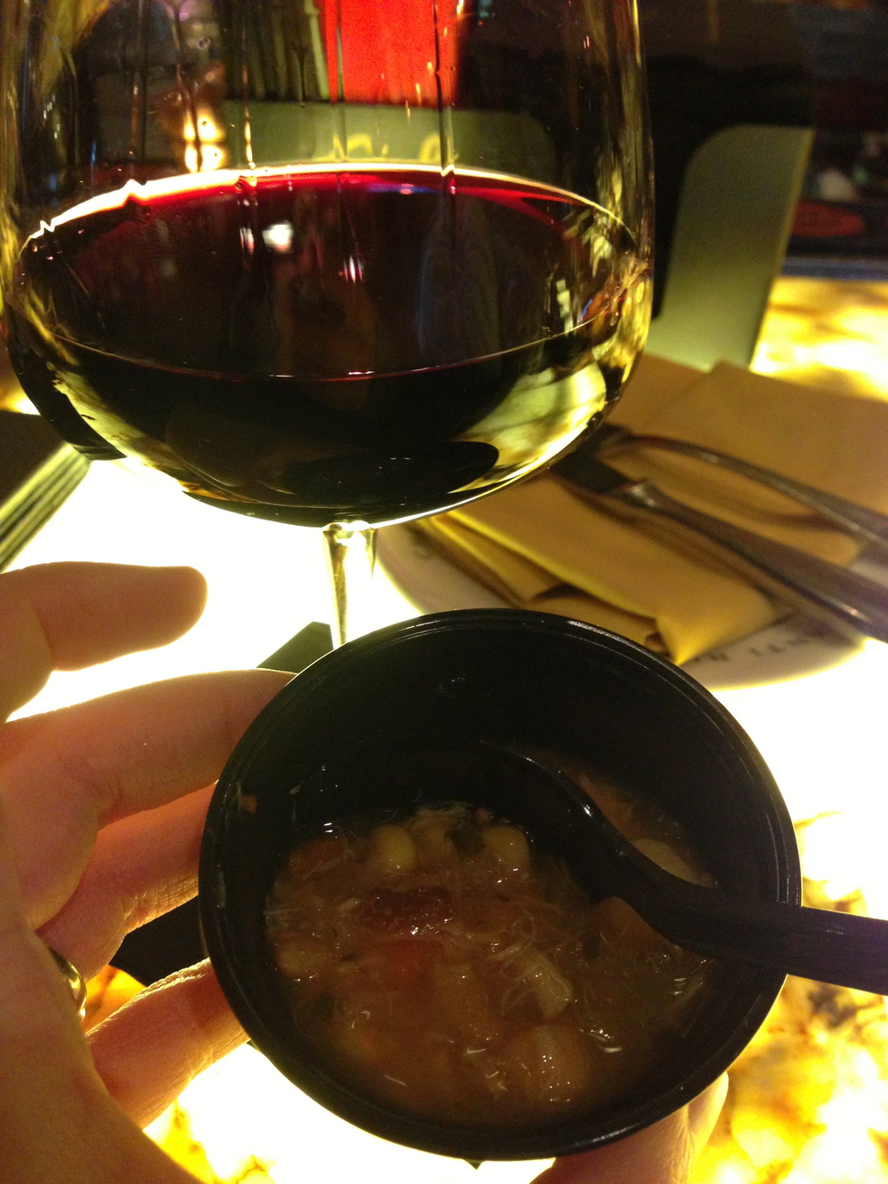 wine & chowder... not the worst pairing I've had...