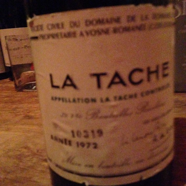 Pardon the blurry photo. My hands were shaking. #LaTache
