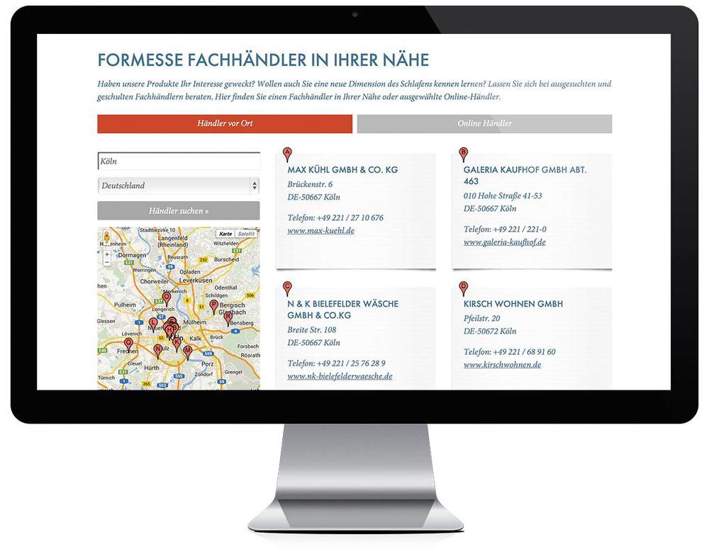 Händlersuche auf Basis der Google-Maps API