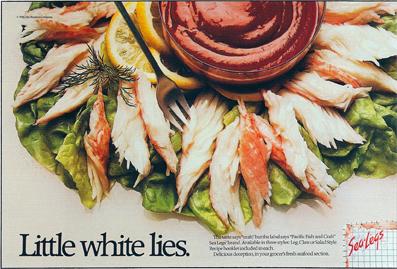 """Sea Legs - Surima """"Crab"""""""