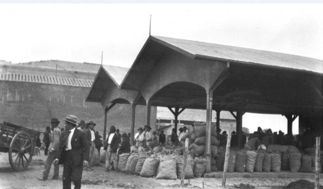 Antigo mercado dos caipiras, anos 1910 / Família Goldschmidt