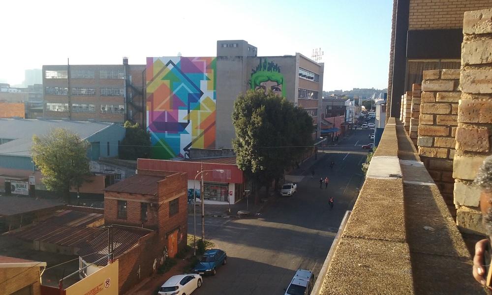 Vista de bairro próximo ao centro de Johannesburgo. Foto: Francisco Comaru