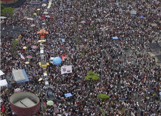 Manifestation EleNão à São Paulo