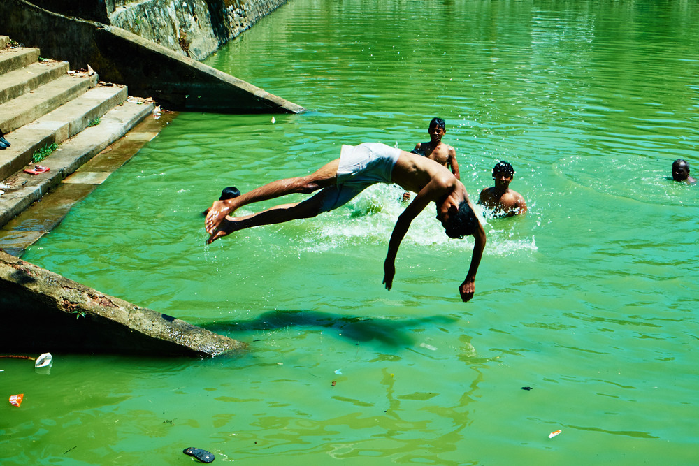 Temple Bathers, Kollam.