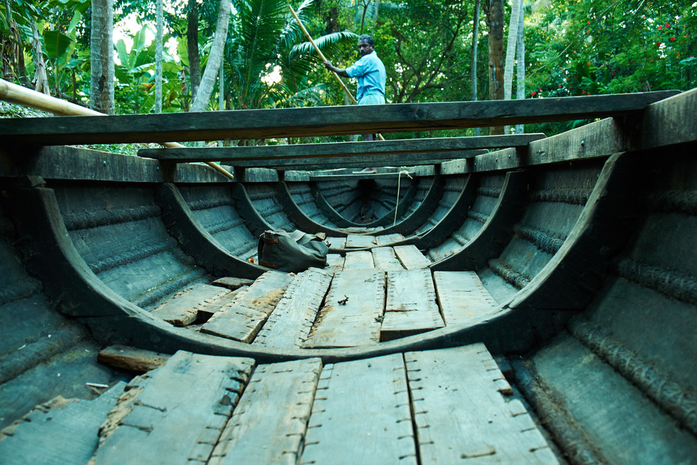 Stitched-up Canoe, Kerala.