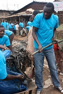 SHOFCO Clean-Up in Kibera!