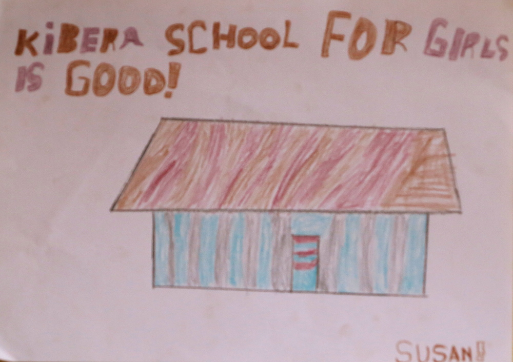 Kibera School for Girls is good!  By Susan, 3rd Grade