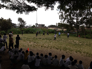 The  annual Kenyans vs. Americans Soccer game.