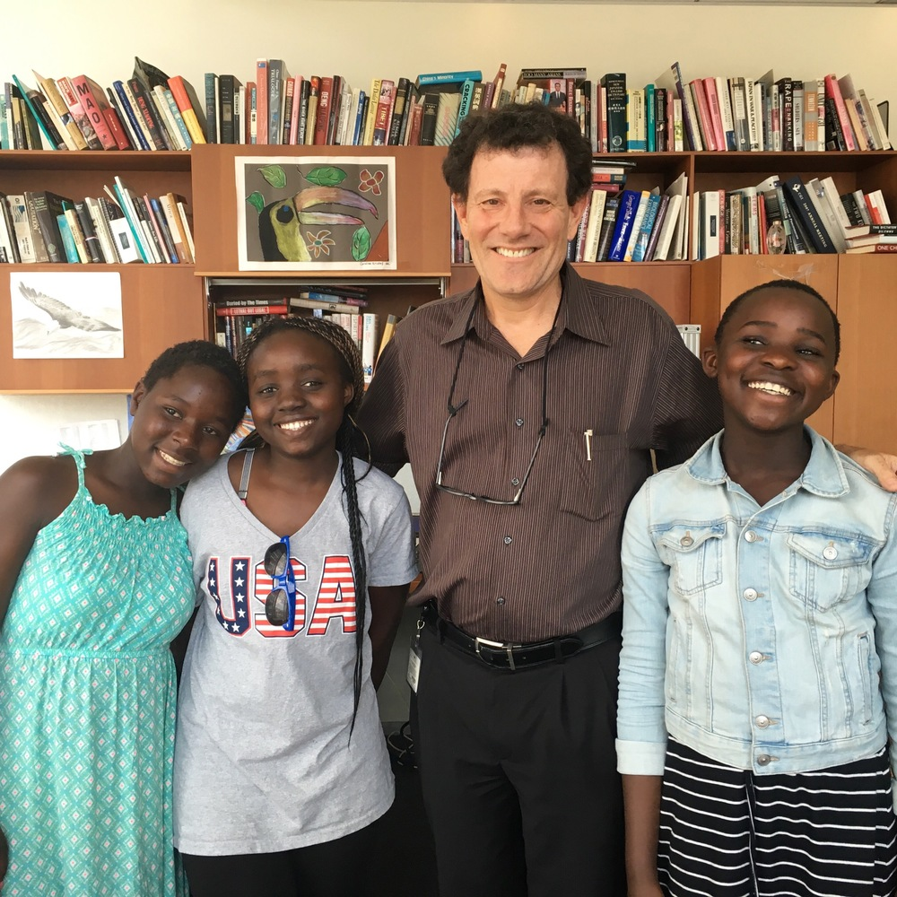 Beldin, Eunice, Nicholas Kristof and Martha in the  New York Times  building.