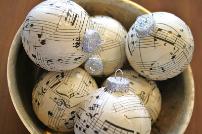 Paper-  ma  che sheet music ornaments...