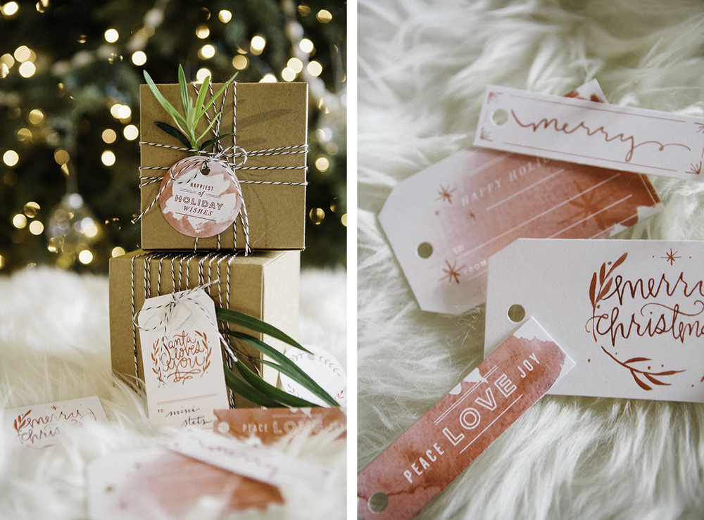 Free holiday tag printable PDFs to personalize your gifts...