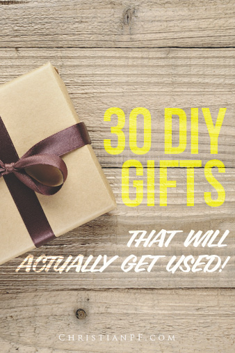 30 DIY gifts that are practical!