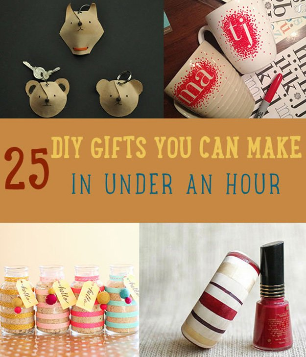 25 DIY gifts you can make fast!