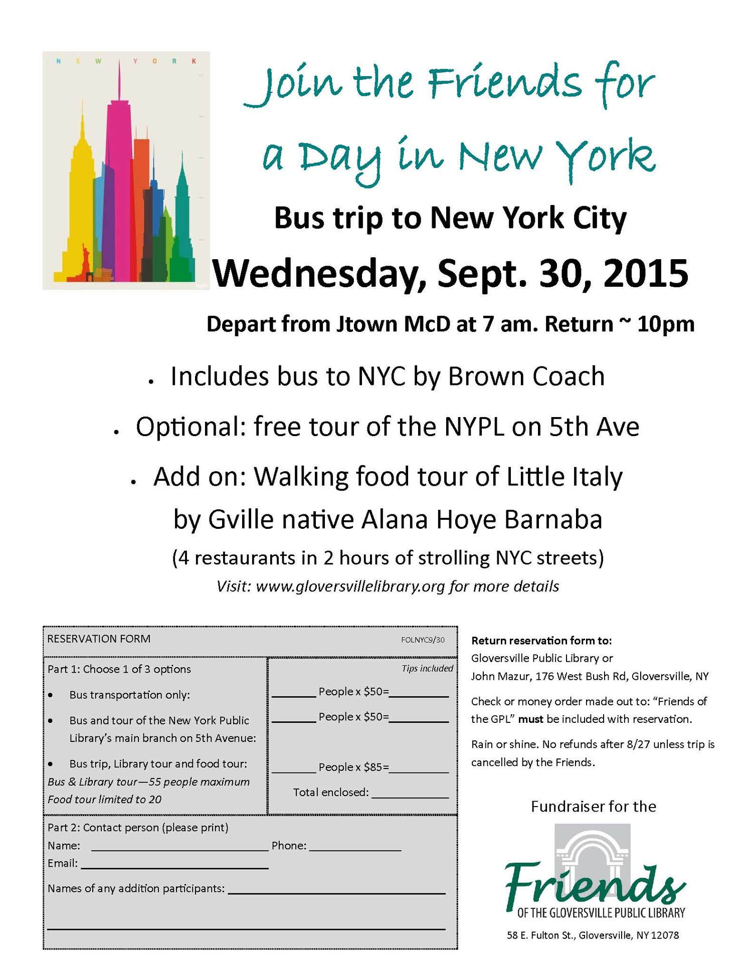 Join the Friends for a terrific trip to NYC — Gloversville