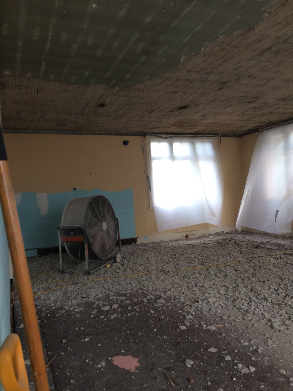 Demo in former children's room, main level north wing