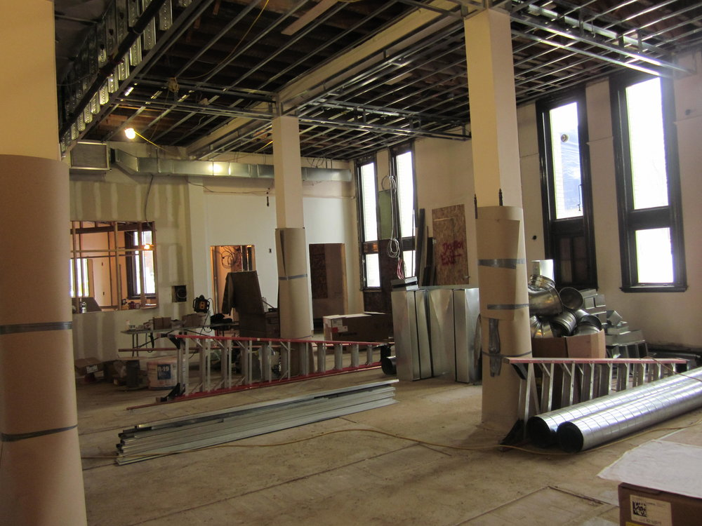 Main stack area where media collection will be housed