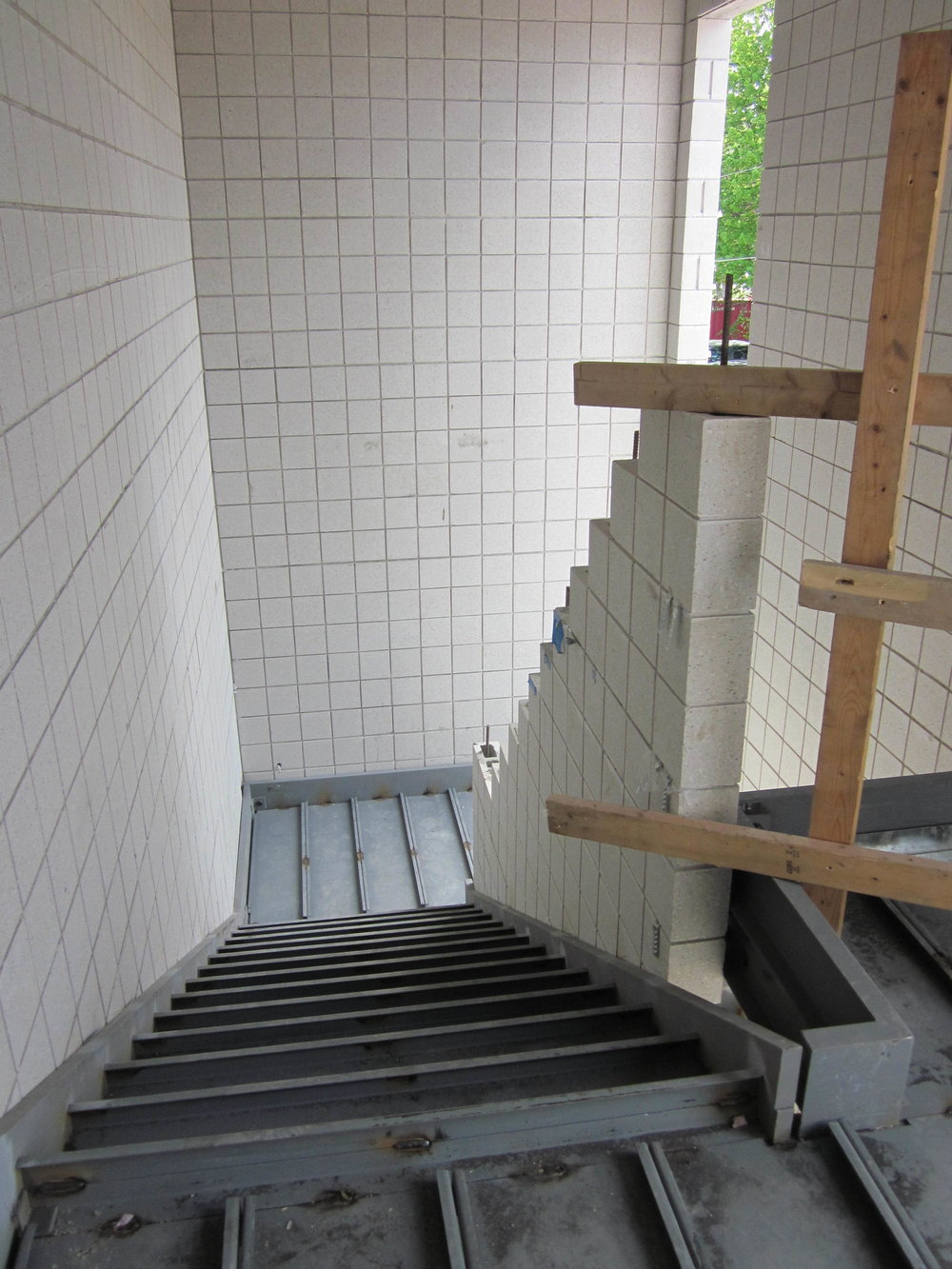 Upper landing in the new stair
