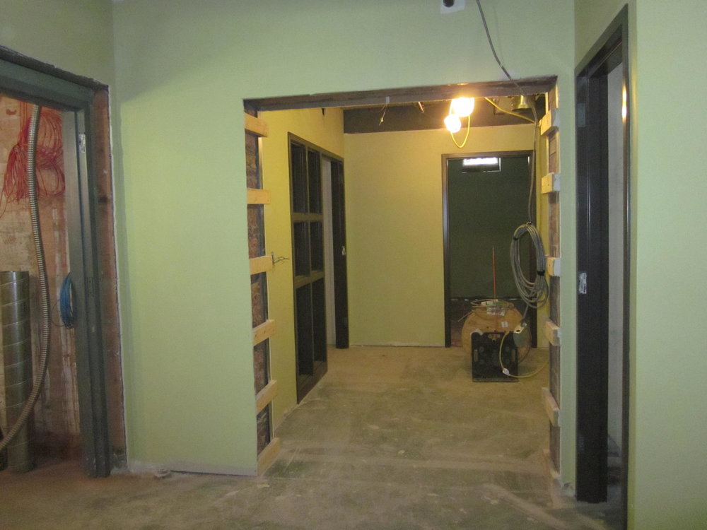 Looking toward the entrace of the lower level activity room