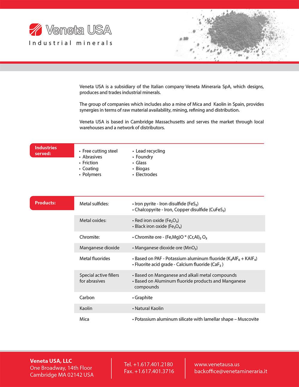 Veneta Data Sheet