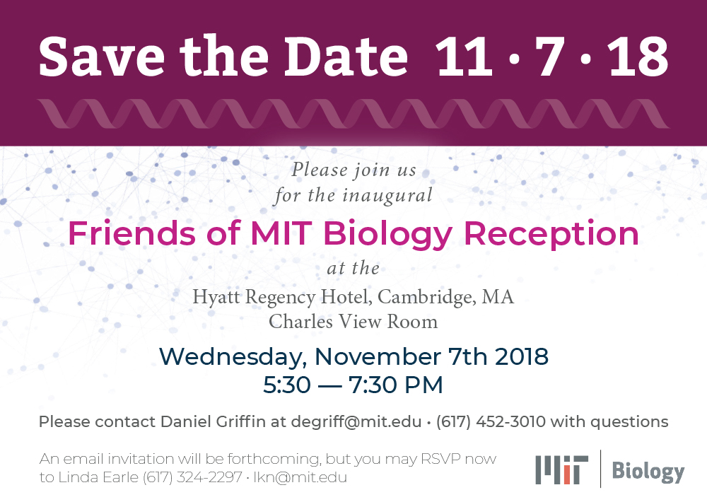MIT Biology Save the Date Postcard