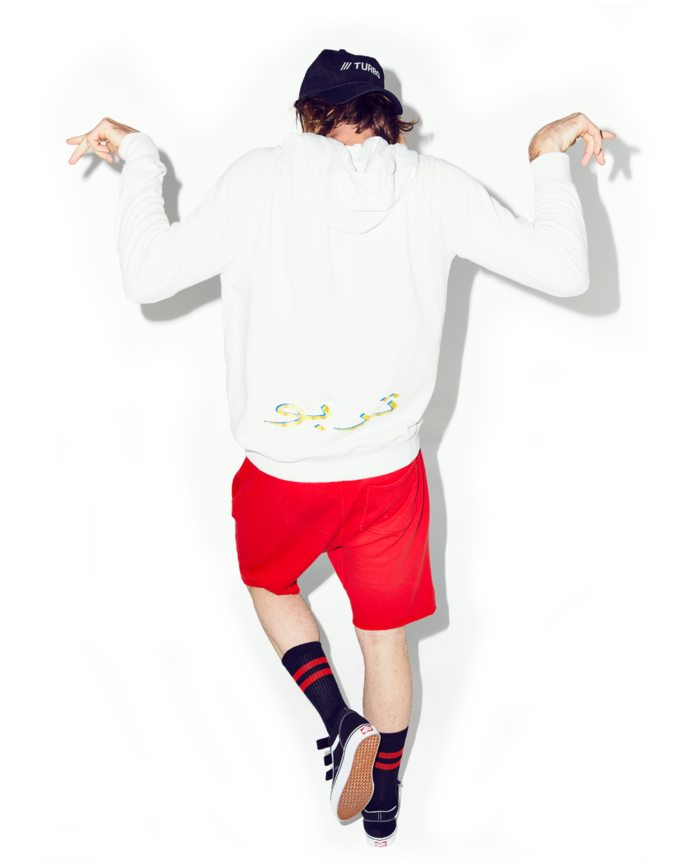 "KANGAROO POCKET ""PARIS"" HOODIE- WHITE"