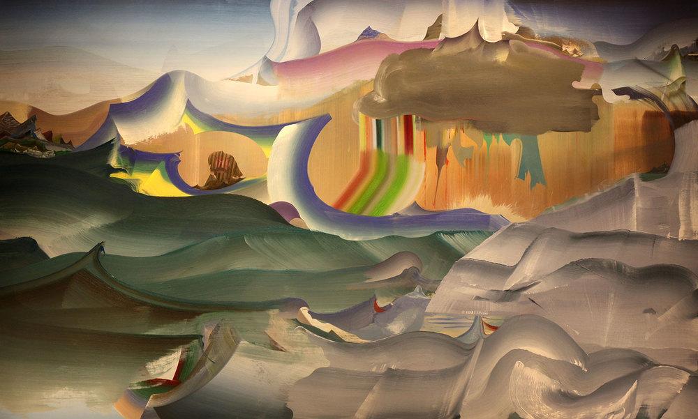 """Heavy Cloud,  2013 Oil on linen, 36"""" x 60"""""""
