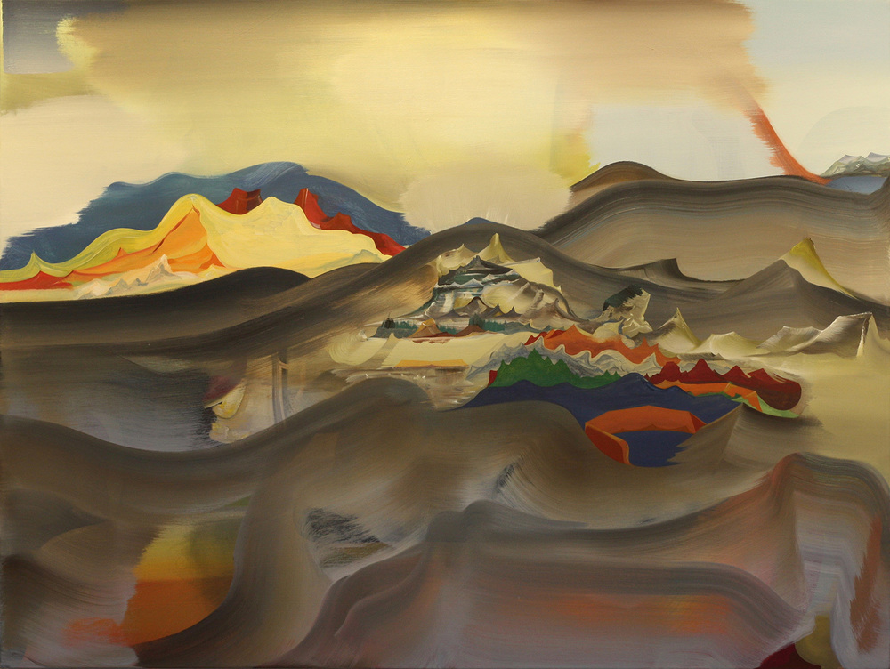 "Underplace, 2013 Oil on linen, 36"" x 48"""