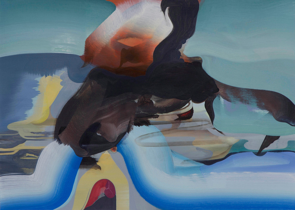 """Murmurs, Seeps and Hissings , 2012 Oil on linen, 20"""" x 28"""""""