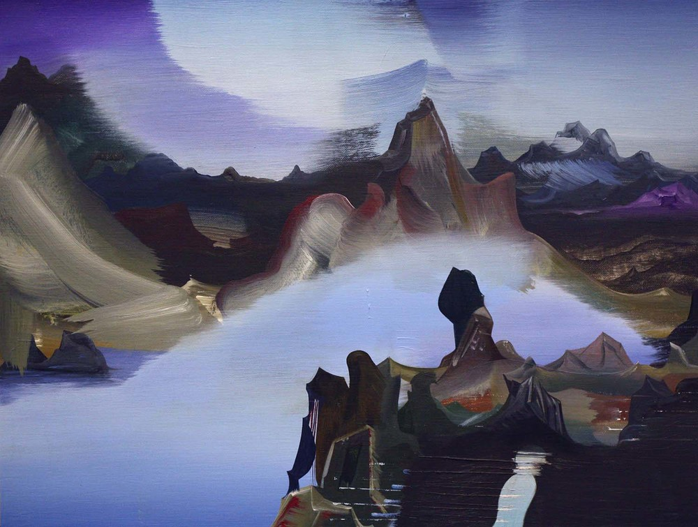 """Unselfed in the Horn of Fog , 2014 Oil on linen, 12"""" x 16"""""""