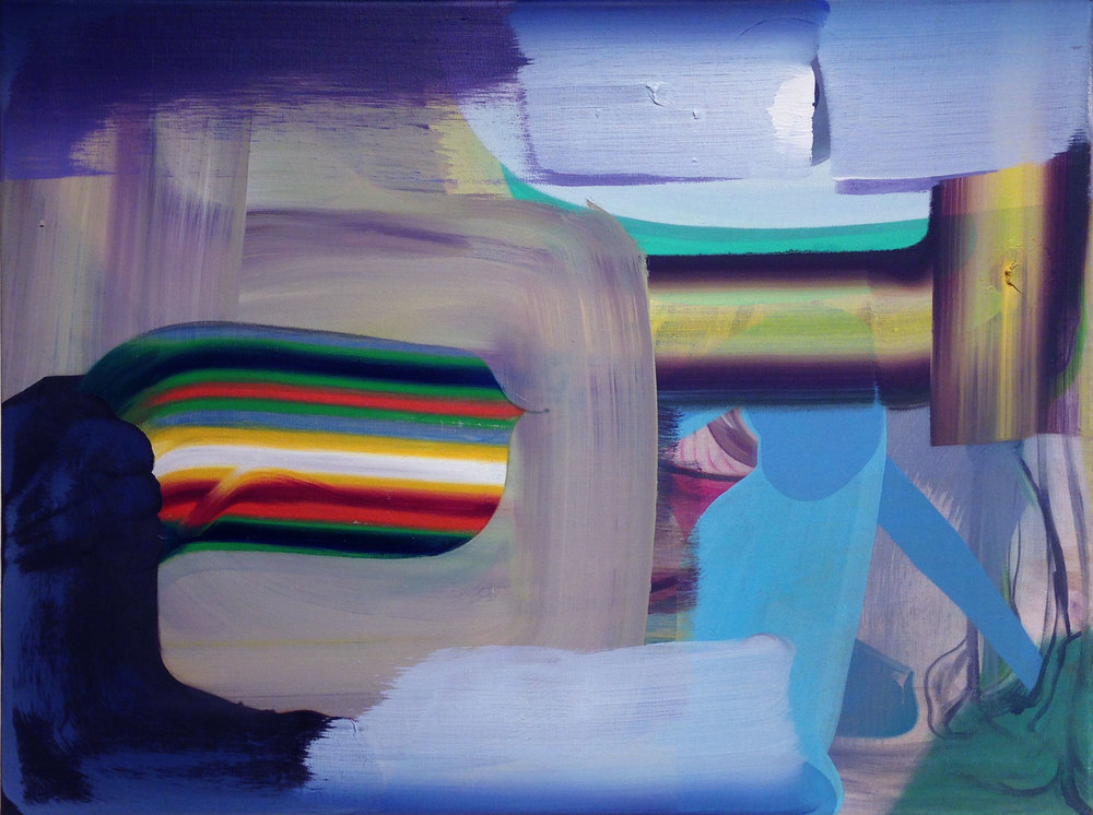 "Sweet-Colorful-Gasses , 2015 Oil on linen, 18"" x 24"""