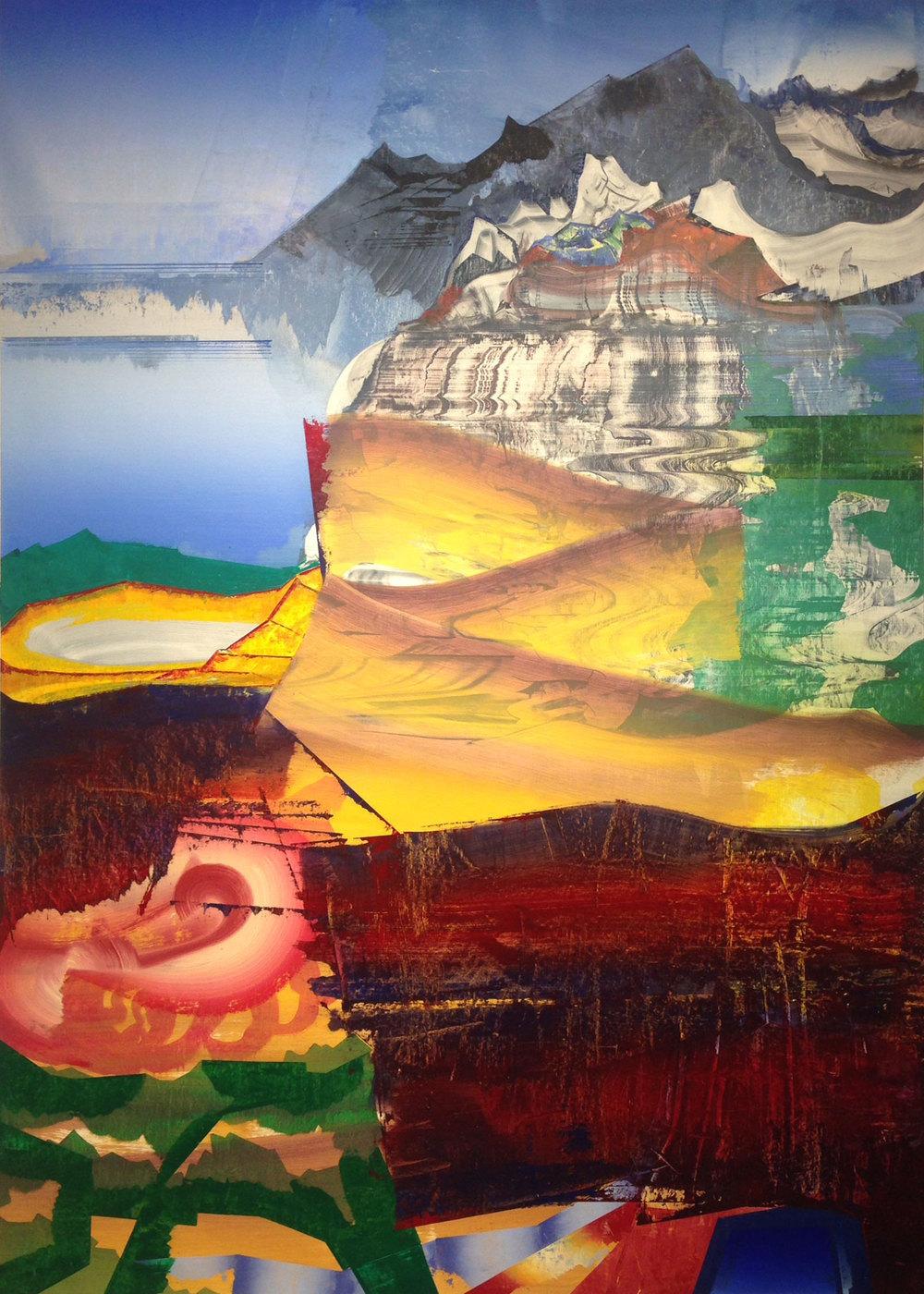 """Beach Mountain , 2015 Oil on linen,76"""" x 54"""""""
