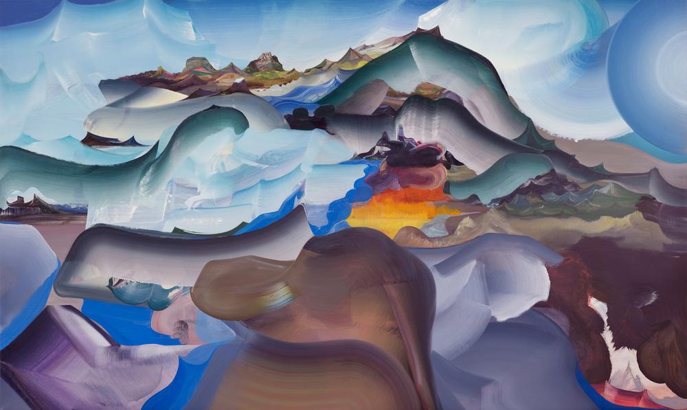 "Furnace Mountain , 2013 Oil on linen, 36"" x 60"""