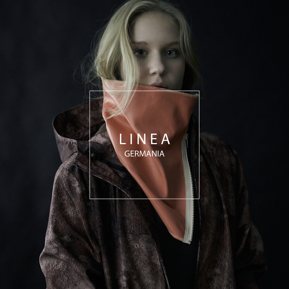 LINEA GERMANIA FORM CAMPAIGN PINK LEATHER NECK SCARF.jpg