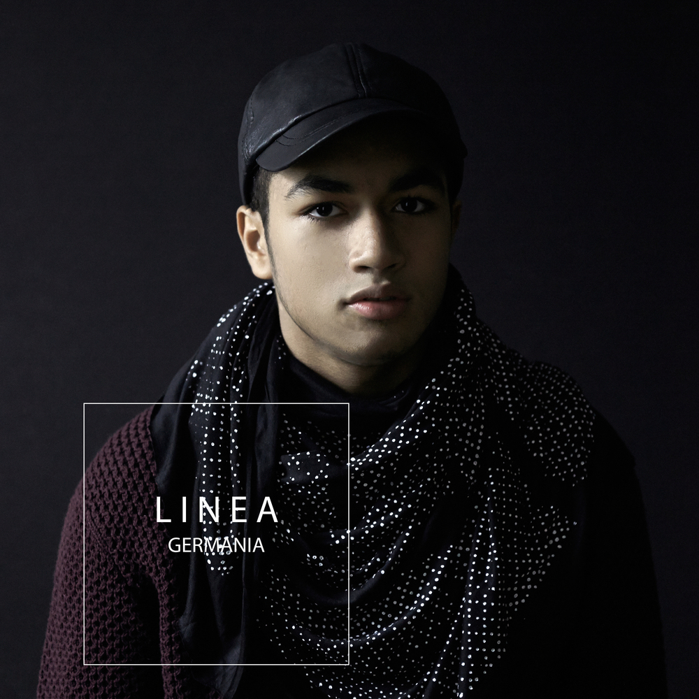 LINEA GERMANIA FORM CAMPAIGN SPECKLED NECK SCARF.jpg