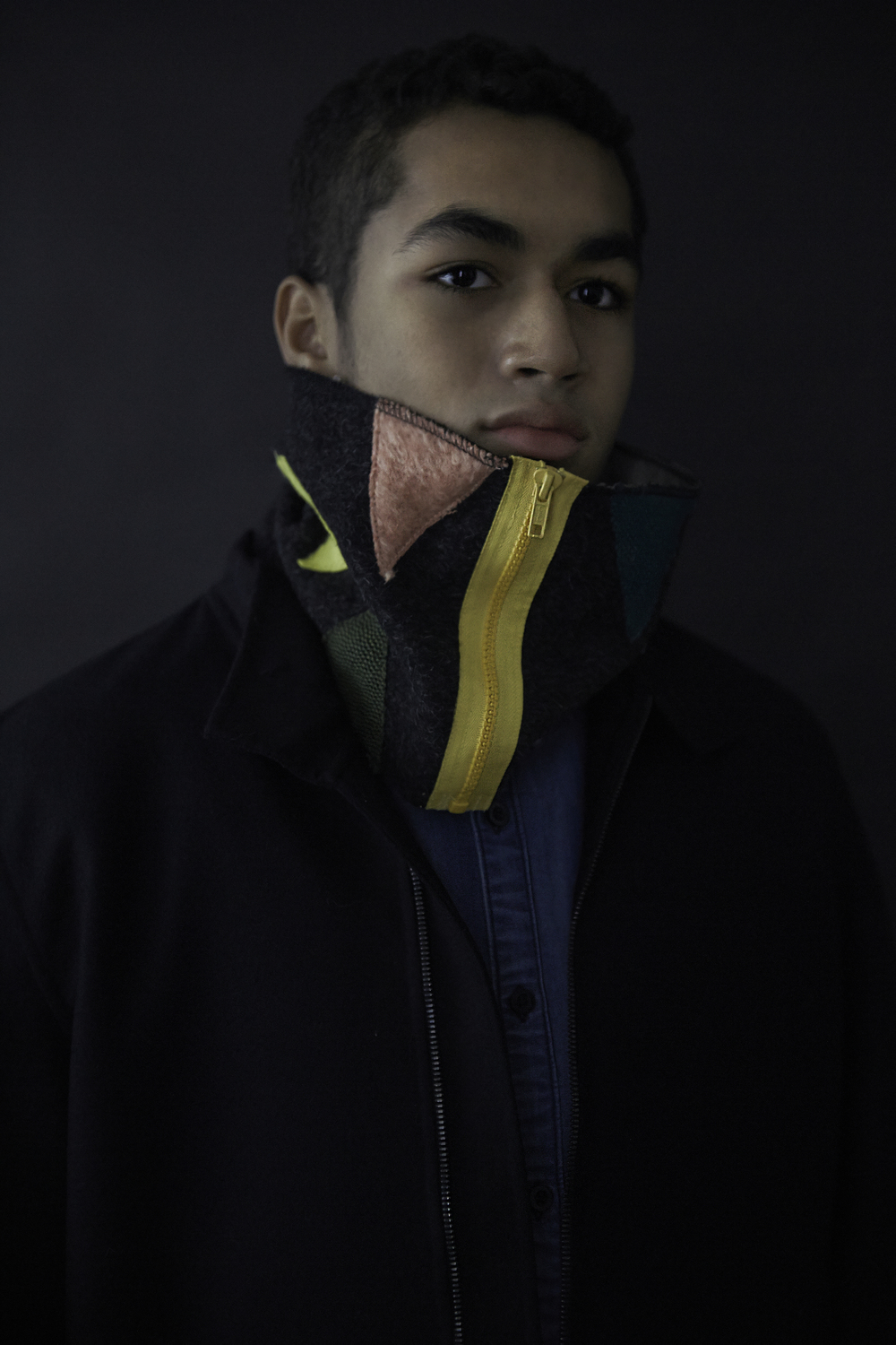 Ous with Color Collage scarf