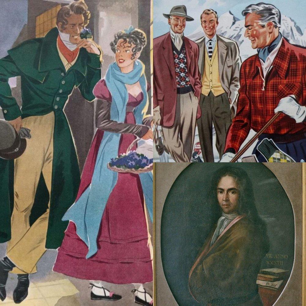 English art depicting people of higher status wearing ascots. Source:  Gentleman's Gazette