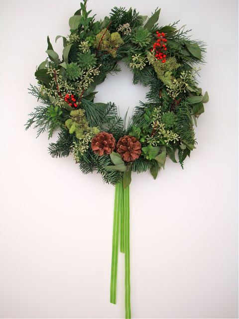 home-made wreath