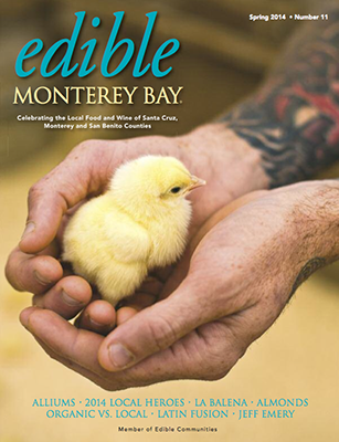Edible Monterey Bay Cover and Article, Spring 2014