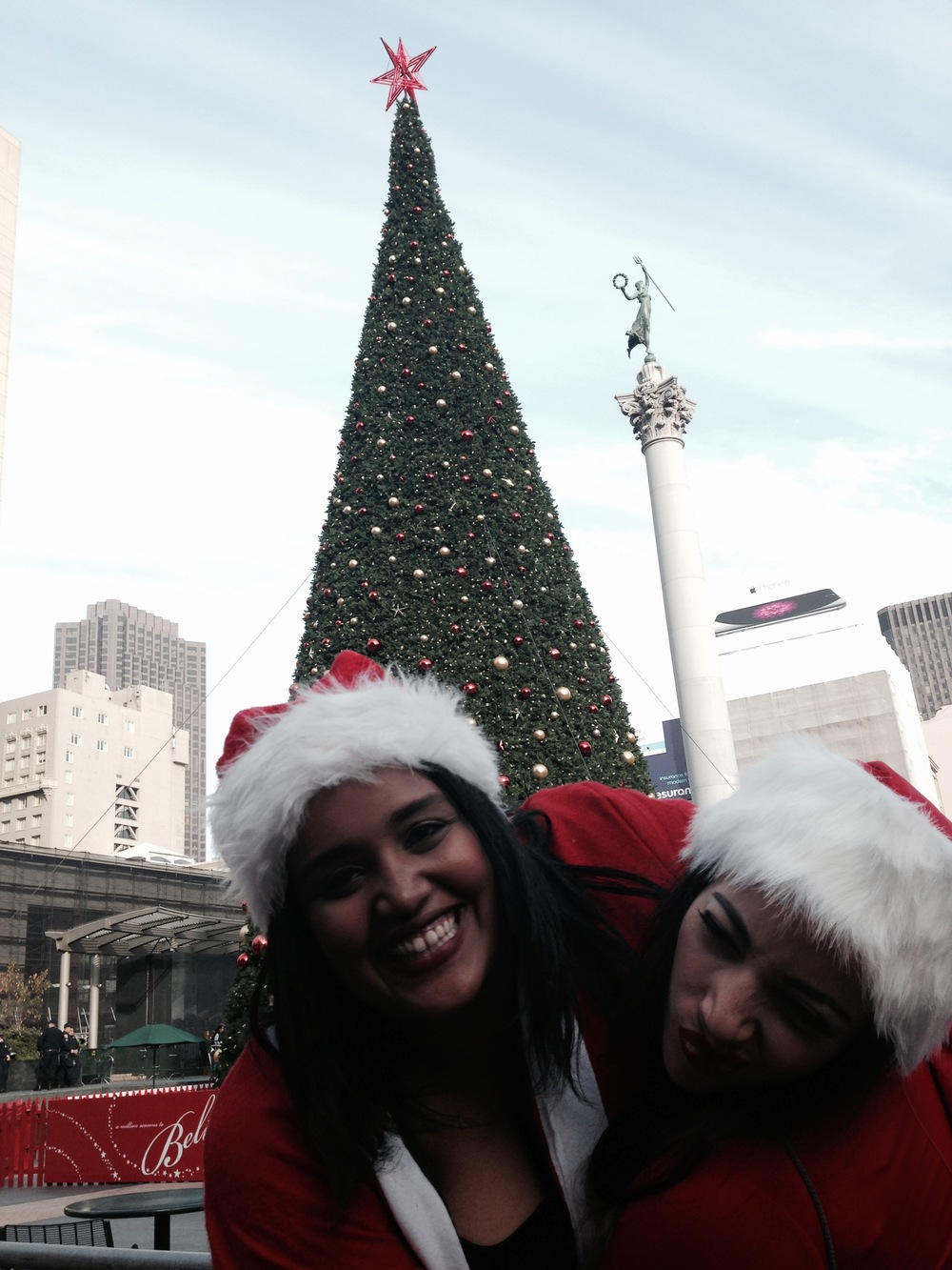 """What can only be described as pure debauchery. A zillion stumbling Santas flooding Union Square"""