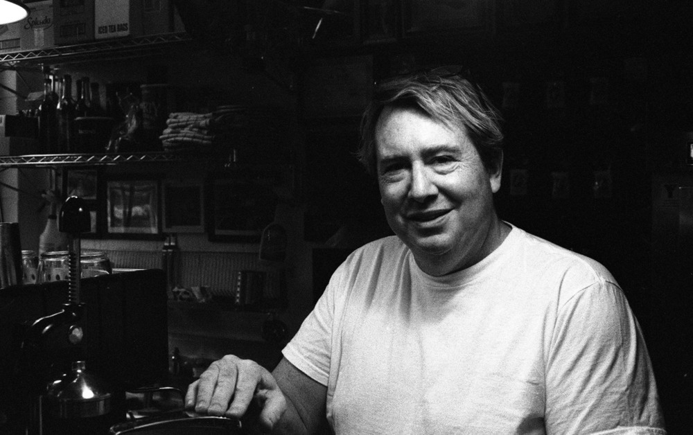 Another one from the archives. This is Dave. He was the proprietor of Guppy's Coffee in Bryn Mawr and he made the best cup of joe I've ever had. Unfortunately, he passed away a few years ago. Great guy.