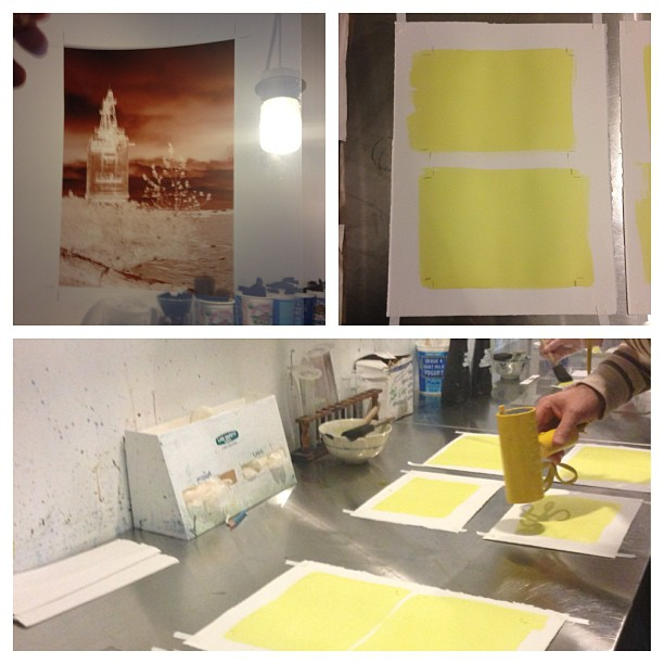 Making cyanotypes