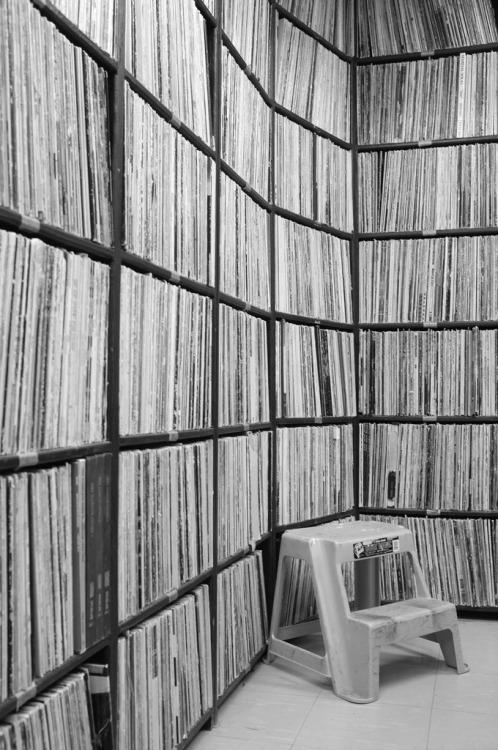 lensblr-network: CKCU 93.1 FM Jazz Records Stacks / Carleton University / Ottawa, ON. Fujifilm Finepix X100. 14 January 2013. by Chris Vanderwees (chrisvanderwees.tumblr.com)