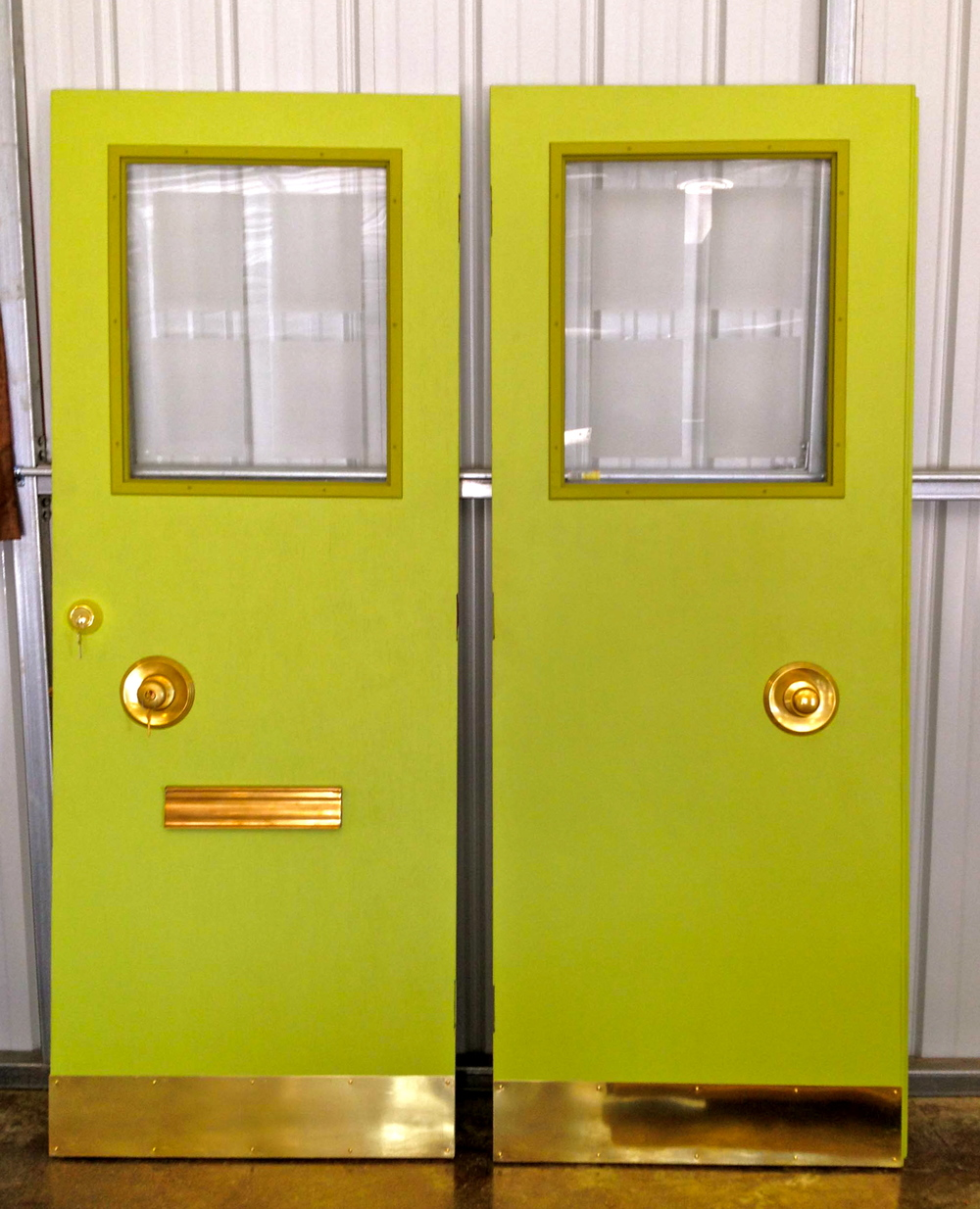 Mid Century Modern Double Doors. Restored ... & Mid Century Modern Double Doors \u2014 Reclaimed Space
