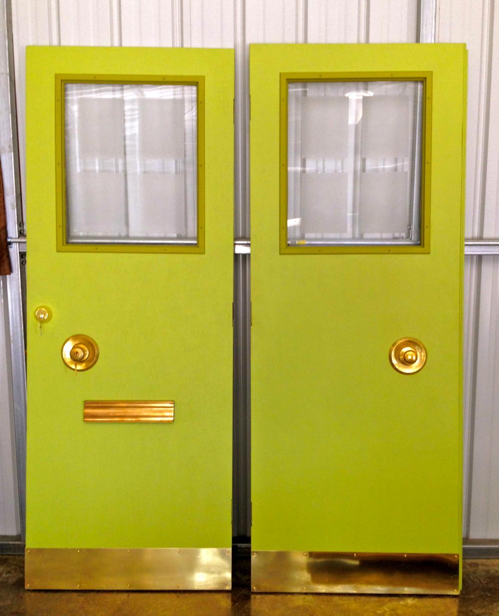 Mid Century Modern Double Doors. Restored ... & Mid Century Modern Double Doors \u2014 Reclaimed Space Pezcame.Com
