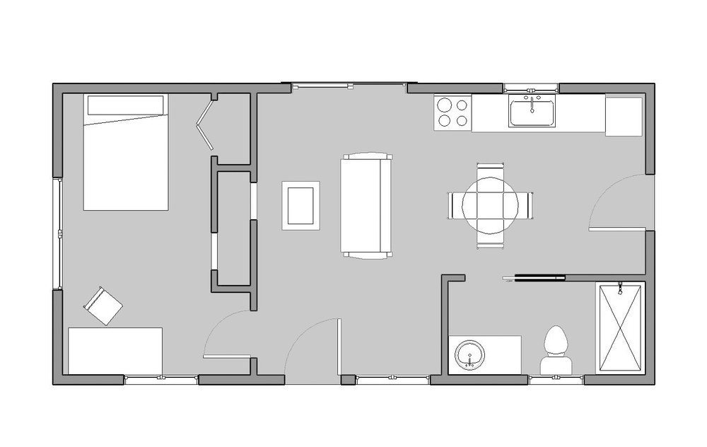 16x32 reclaimed space for 32 x 40 home plans