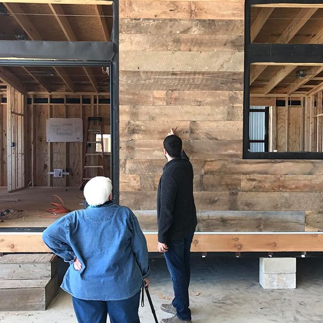 Our client came for a visit! This 768 SF home will boast an art studio, bedroom, bathroom and full kitchen! We're excited to be working with Betty and make her contemporary dreams come true! For more information on Reclaimed Space, visit our website located in our bio.