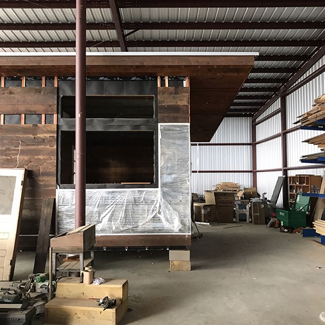 Just a few progress shots of the 768 SF home we've got in production. This home which boasts a bedroom, art studio, full kitchen and bathroom, will be shipped to Wimberley, Texas once it's completed. Where would your dream Reclaimed Space delivered to?