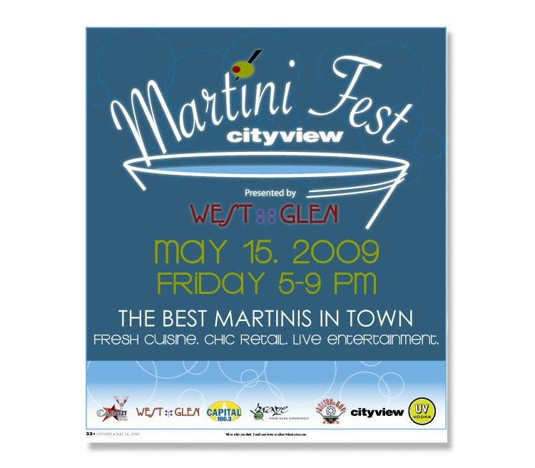 Cityview MartiniFest Magazine Insert